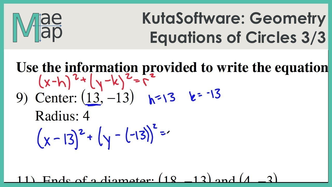 Kutasoftware Geometry Equations Of Circles Part 3 Youtube