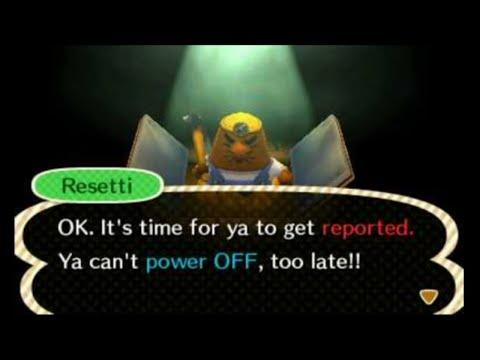 Animal Crossing: New Leaf - Anti-Piracy screen (Power OFF refusal)