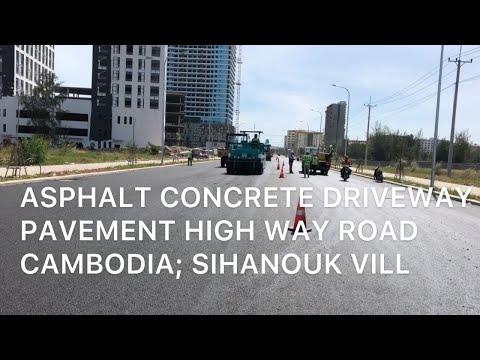 Asphalt paving process and procedure-Asphalt Driveway-Compaction part-6 Cambodia