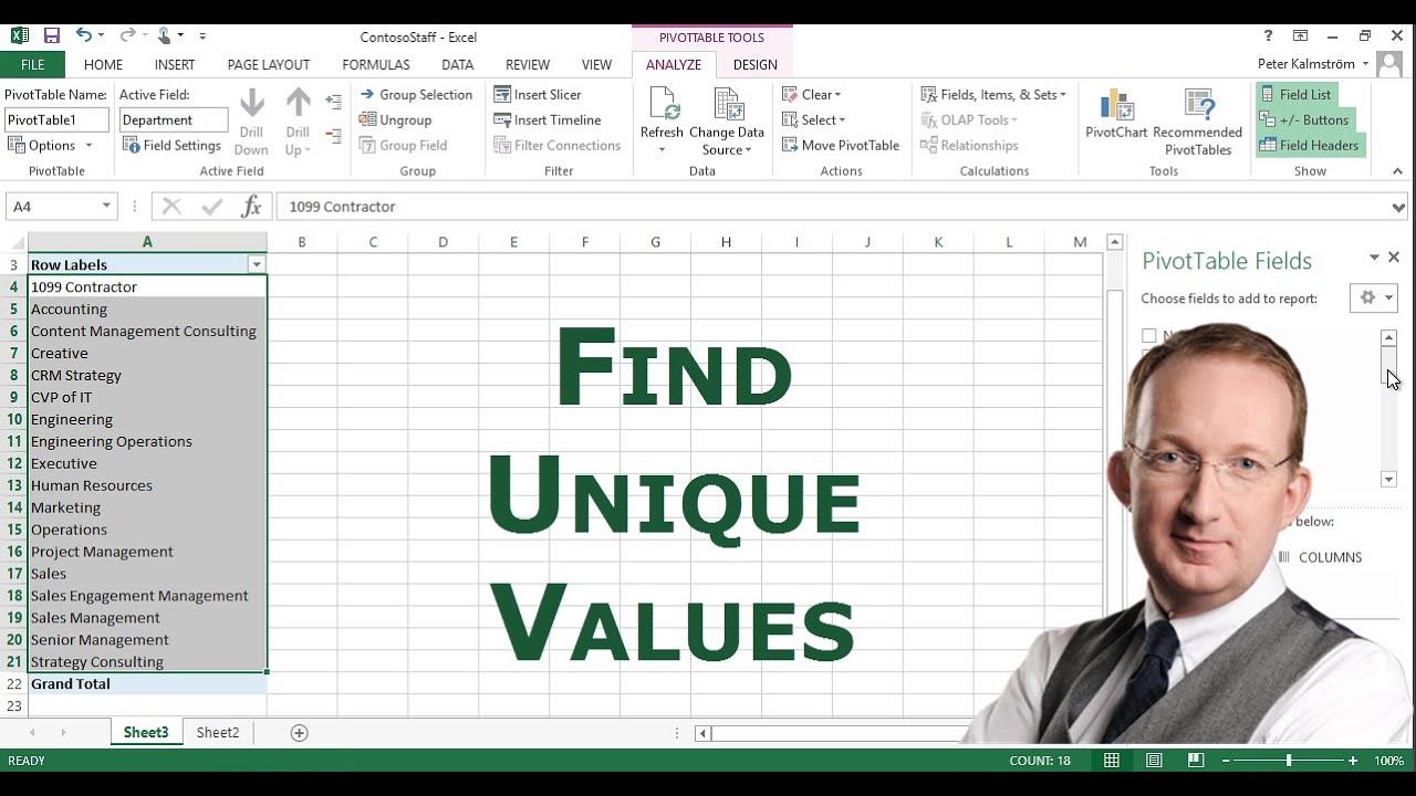 Find Unique Values