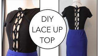 How to sew a Lace Up Shirt