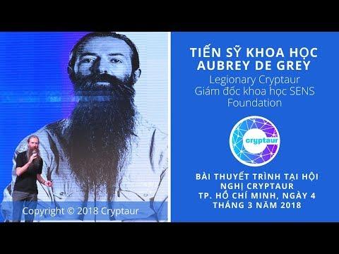 Aubrey de Grey, Cryptaur's conference in Vietnam, March 4, 2018