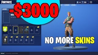 I HAVE NO MORE SKINS... (What Happened)