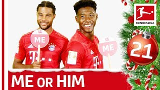 Alaba and Gnabry about Dancing, Swag & More - Me or Him - Bundesliga 2019 Advent Calendar 21