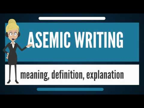 What is ASEMIC WRITING? What does ASEMIC WRITING mean? ASEMIC WRITING meaning & explanation