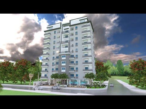 Sketchup 3D Model 11 Stories Apartment Exterior design Idea