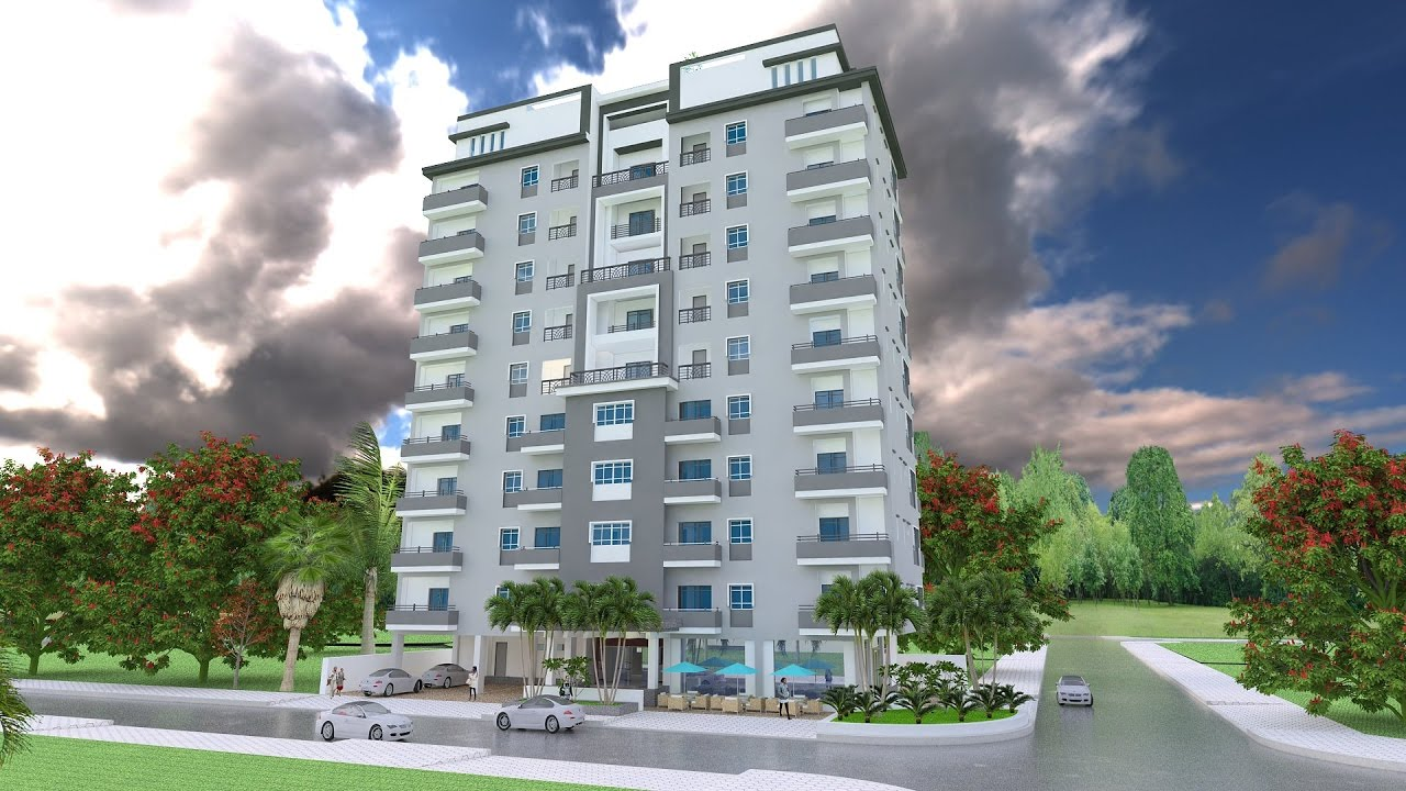 Sketchup 3D Model 11 Stories Apartment Exterior design Idea - YouTube