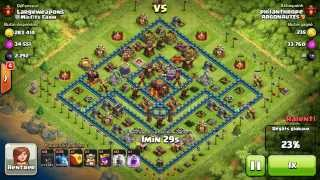 BM027 Balloons and Minions Strategy against champion level opponent - Clash of Clans CoC