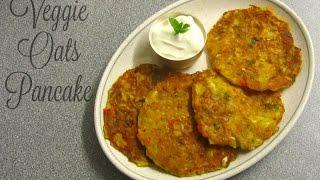 Vegetable Oats Pancake | Eggless Vegetable Pancake recipe - Breakfast Recipe