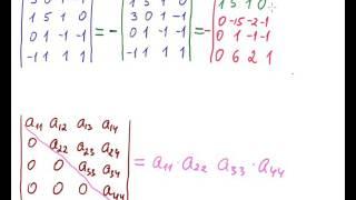 Приведение определителя к треугольному виду