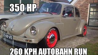 350 HP Vw bug Turbo 260 kph autobahn run vocho project-subaru ej20 sti engine!! Part 12