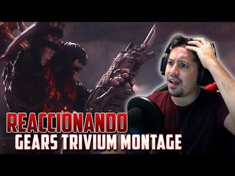 """REACCIONANDO A """"TRIVIUM"""" el Mejor Montaje de GEARS OF WAR!!"""