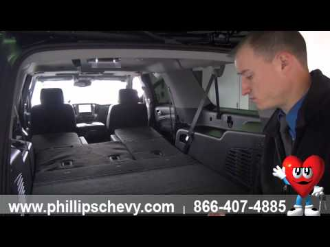 2015 Chevy Suburban - Demo: Power Folding Seats & Cargo Space - Phillips Chevrolet - New Car Sales