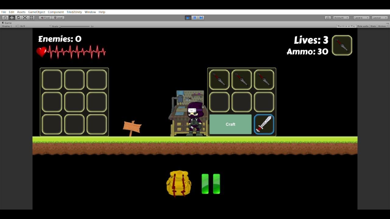 Unity 2D platformer Crafting