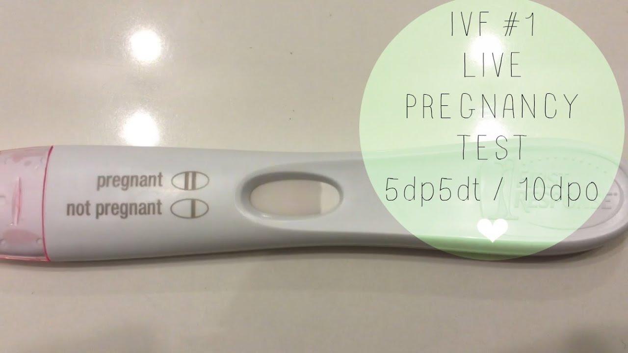 IVF #1 | LIVE PREGNANCY TEST! 5dp5dt (10dpo)