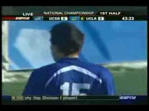 NCAA Soccer Final 2006 - UCSB Vs UCLA - Highlight 1