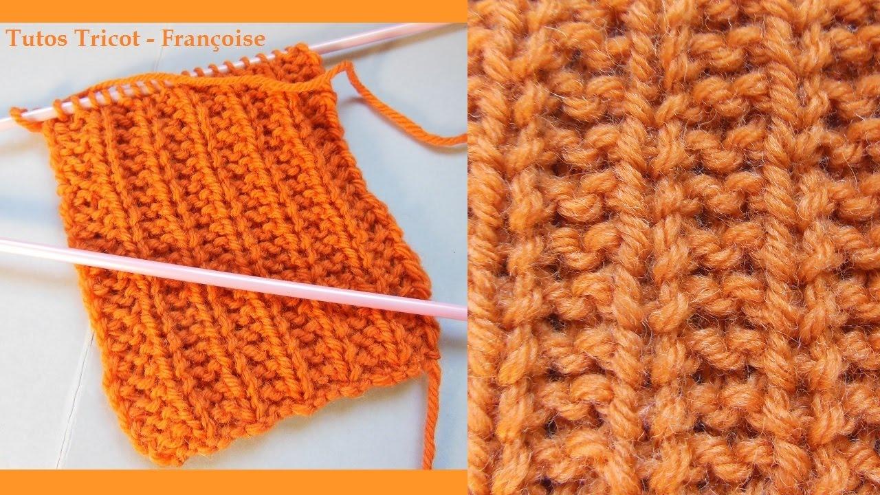 Tuto tricot Côtes Mousse | Apprendre à tricoter des côtes Mousse 1/2 | Point de base facile ...