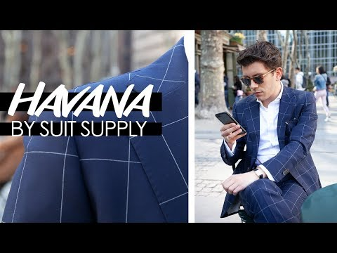 "A SUIT SUPPLY Review, The ""Havana"" In Navy Windowpane 