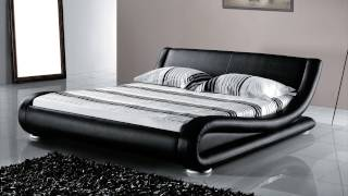 Beliani Leather Bed - Double Bed Incl. Stable Slatted Frame - Bed Avignon - Eng