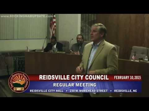 February 10, 2015 - Reidsville City Council Meeting