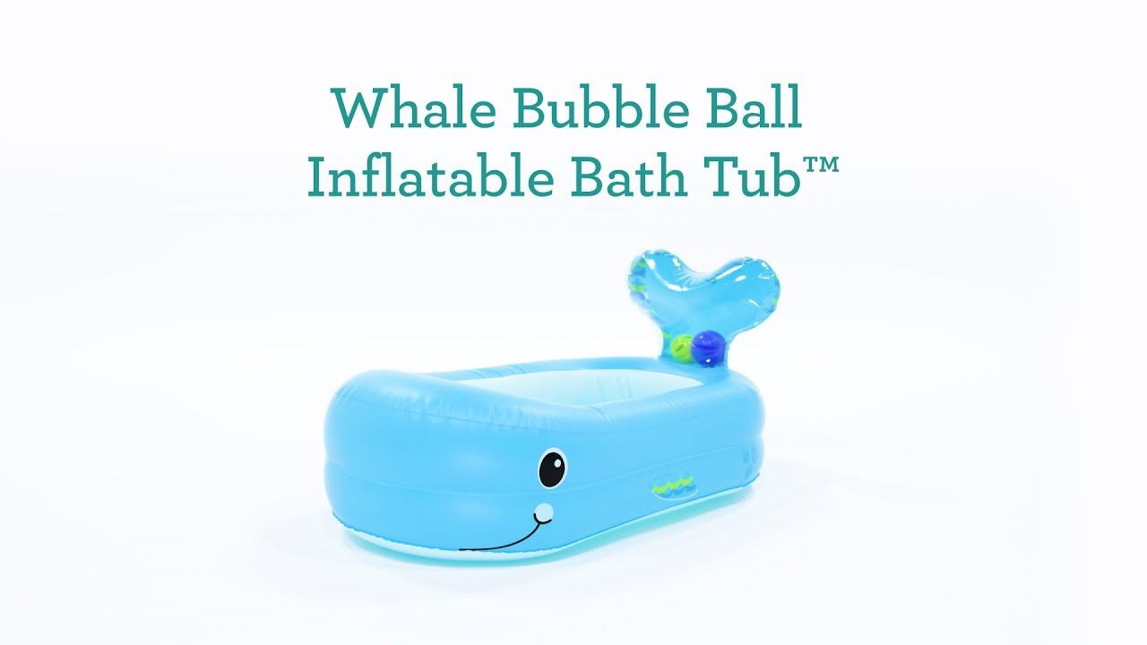 Whale Bubble Ball Inflatable Bath Tub™ - YouTube