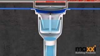 การวางท่อน้ำทิ้ง / Maxxi Floor Drain V Series installation with waterproofing membrane