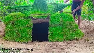 Primitiv Technology Engineering - Making Mini Underground House