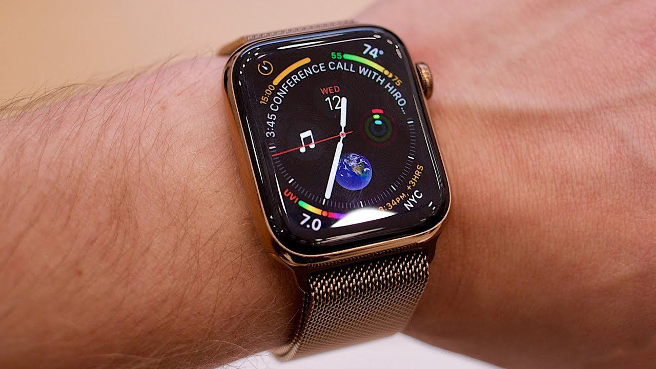 4e8285f84589 Apple Watch Series 4 hands-on - YouTube