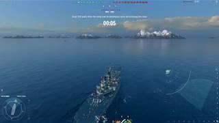 World of Warships - Iowa - Top tier BBs afraid to push