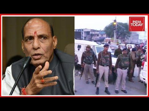 Sunjuwan Live Updates   Home Minister Rajnath Singh Enquires Situation From J&K DGP