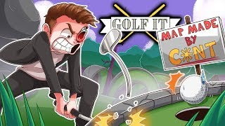 I'M GOING TO BREAK SOMETHING BECAUSE OF THIS STUPID MAP! - Golf It Funny Moments