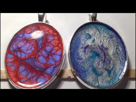 Making Pendants Using Pebeo Fantasy Moon & Prisme Part 1