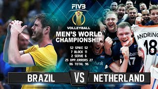 Brazil vs. Netherlands | Volleyball Highlights | Men