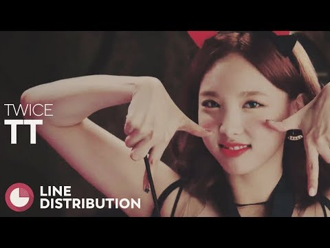 TWICE - TT (Line Distribution)