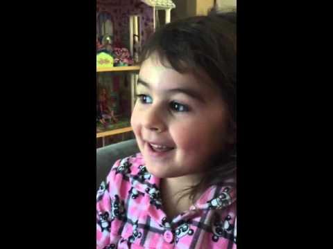 Olivia singing 2 week old Floogals theme song
