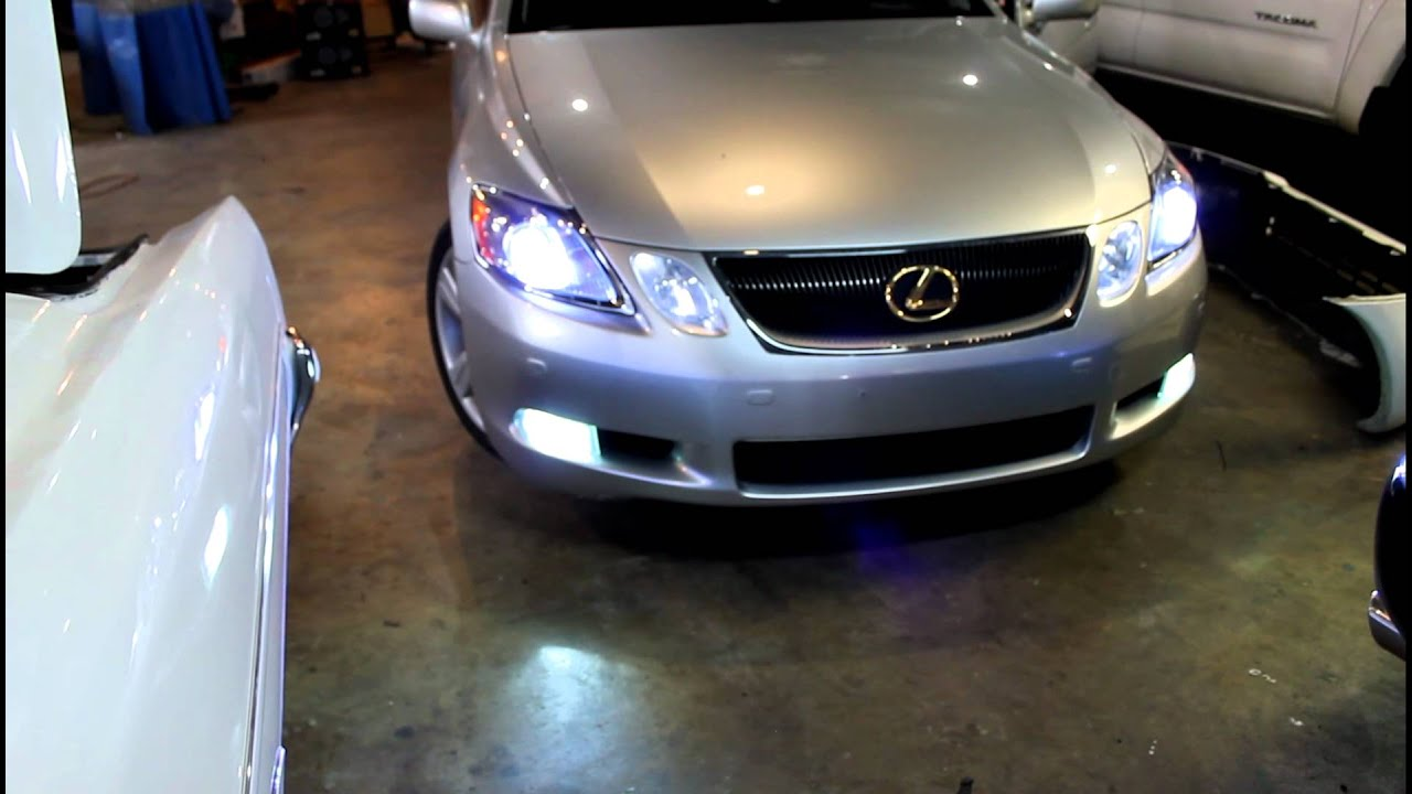 Led Headlights Vs Hid >> lexus gs430 hid low and fog led hi beam - YouTube