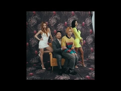 HyunA (현아), Jessi (제시), PSY (싸이), E'Dawn (이던) (BTS: P NATION Photoshoot)