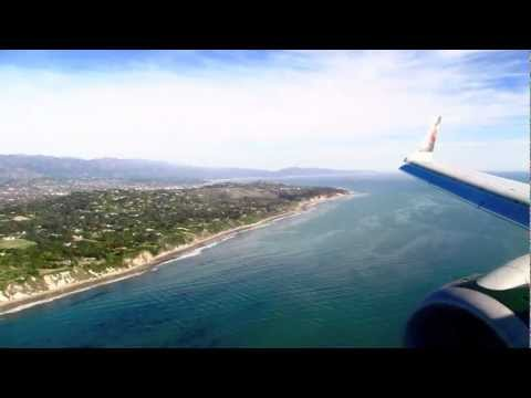 Frontier Airlines Republic EMB-190 Denver - Santa Barbara Takeoff, Cruise, & Landing HD.mov