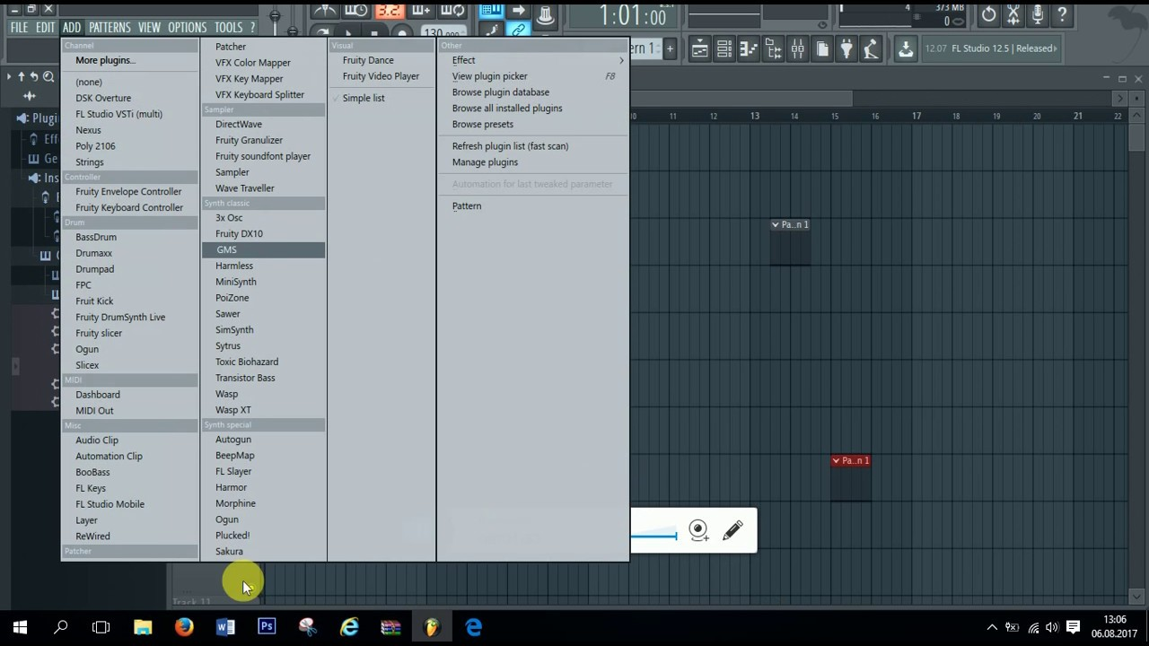 How to add plugins to list in fl studio 12 - YouTube