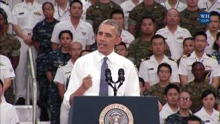 Obama Speaks To Military In Hiroshima