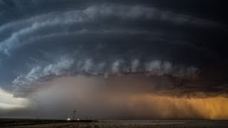 Supercell Timelapse North of Booker, Texas - June 3rd 2013