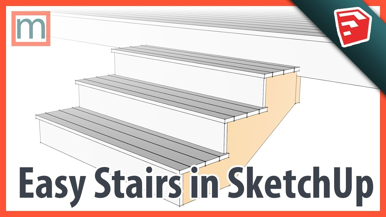 Easy Stairs in SketchUp - MasterSketchup com