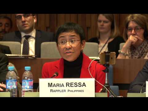 Panel 3 - Maria Ressa, Eexecutive editor and CEO, Rappler, Philippines