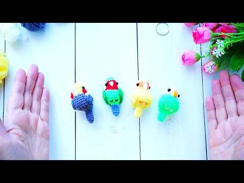 Как связать крючком попугая схема