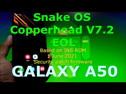Snake OS Copperhead V7.2 (EOL) Gaming ROM for Samsung Galaxy A50