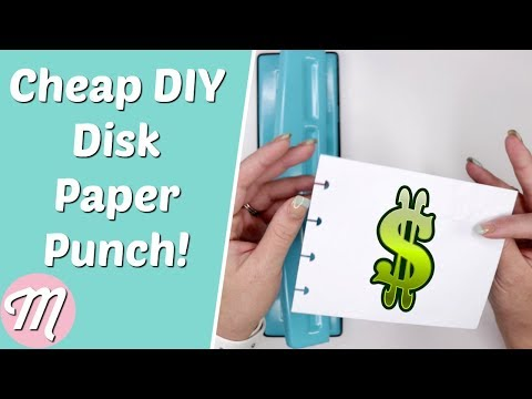 💰DIY Cheap Happy Planner Paper Punch!