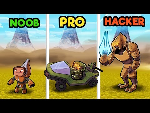 Minecraft - HALO WARS CHALLENGE! (NOOB vs PRO vs HACKER)