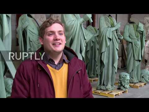 france:-notre-dame-statues-luckily-removed-for-restoration-days-before-fire-go-on-display