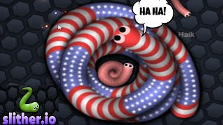 Slither.io - Top1 Dominating and Fun Eating
