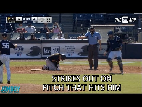 Batter Strikes out on a pitch that hits him, a breakdown